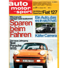 Auto MotorSport 1973 nr 21 German