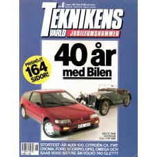 Teknikens Värld 1988 nr6 Jubileumsnummer